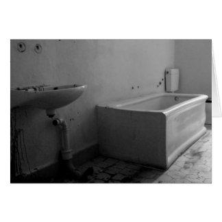 Cuarto de baño (blanco y negro) tarjeta pequeña