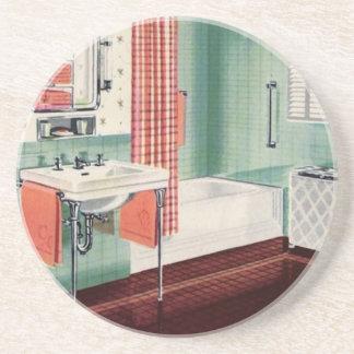 Cuarto de baño de los años 40 posavasos cerveza