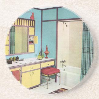 Cuarto de baño de los años 50 posavasos manualidades
