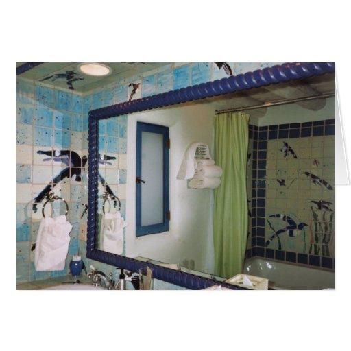 Cuarto de baño del balneario de New México Tarjeta De Felicitación
