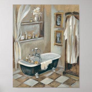 Cuarto de baño francés neutral póster