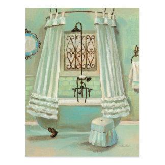 Cuarto de baño pasado de moda postal