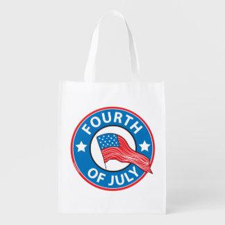 Cuarto de julio bolsas reutilizables