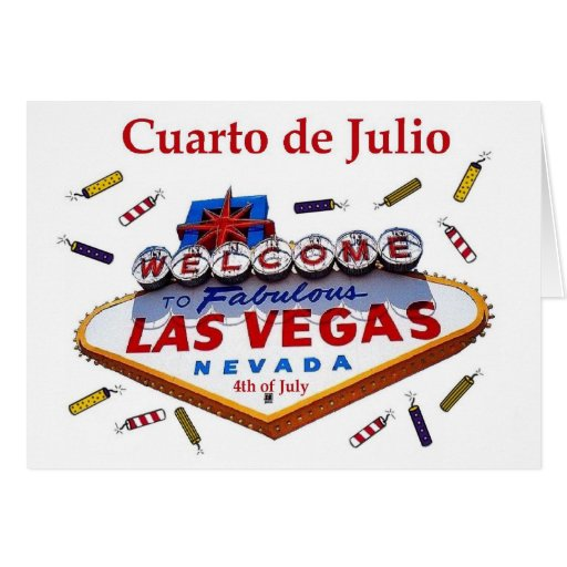 """""""Cuarto de Julio"""" Las Vegas 4to de la invitación d Tarjetas"""