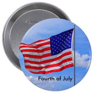 Cuarto de la bandera de los E.E.U.U. del botón de Pin Redondo De 4 Pulgadas
