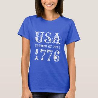 Cuarto de la camiseta de julio para las mujeres el