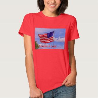 Cuarto de la camiseta de las mujeres de julio remeras