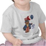 Cuarto de la camiseta del oso de julio