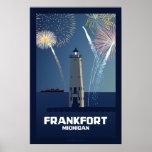 Cuarto de la celebración de julio, Frankfort, Mich Poster