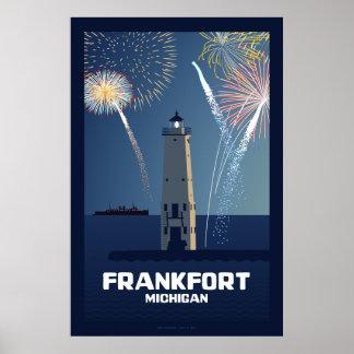 Cuarto de la celebración de julio, Frankfort, Mich Póster