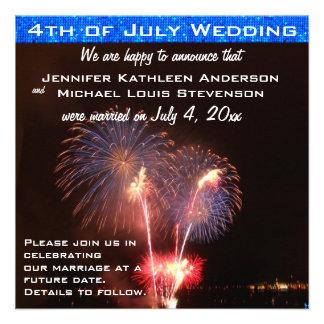 Cuarto de la invitación de la boda de julio
