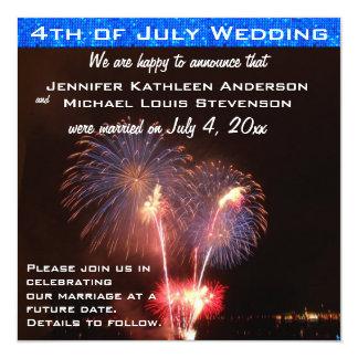 Cuarto de la invitación de la boda de julio invitación 13,3 cm x 13,3cm