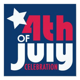 Cuarto de la invitación de la celebración de julio