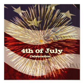 Cuarto de la invitación de la celebración de julio invitación 13,3 cm x 13,3cm