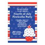 Cuarto de la invitación del fiesta de julio