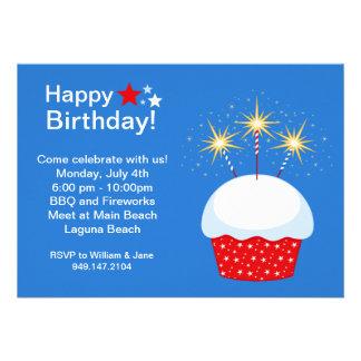 Cuarto de la invitación del fiesta de julio Birhda