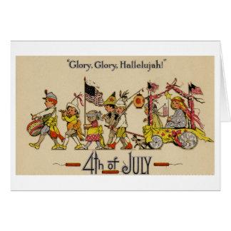Cuarto de la tarjeta de felicitación de julio (CA