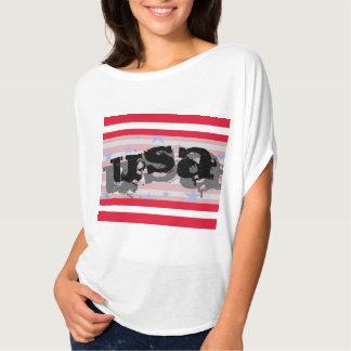 Cuarto de los E.E.U.U. América de la camiseta Playeras
