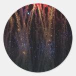 Cuarto de los fuegos artificiales de las luces de pegatina redonda