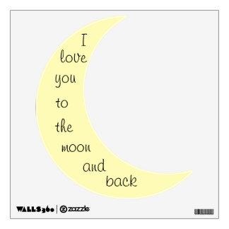 Cuarto de niños amarillo de la luna