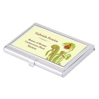 Cuarto de niños botánico de las plantas carnívoras caja de tarjetas de visita