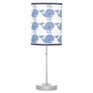 Cuarto de niños de la ballena del bebé lámpara de escritorio