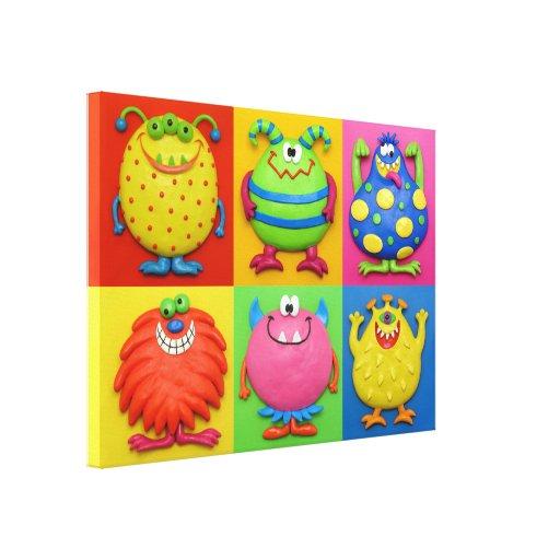 Cuarto de niños de la ducha del bebé del fiesta impresión en lienzo