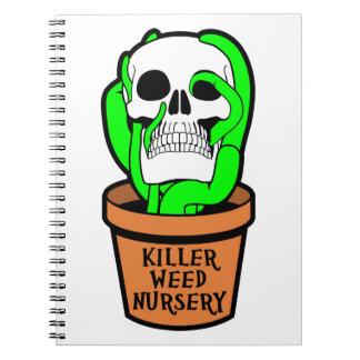 Cuarto de niños de la mala hierba del asesino spiral notebook