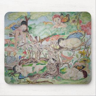 Cuarto de niños del bosque alfombrilla de raton
