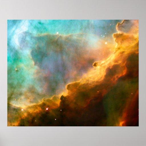 Cuarto de niños estelar de la nebulosa de Omega Póster