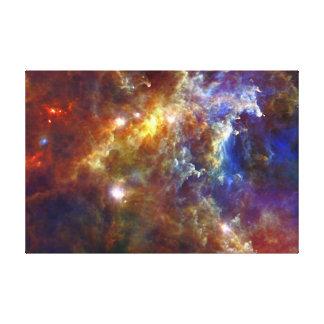 Cuarto de niños estelar en las nebulosas del impresión en lienzo