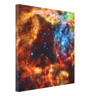 Cuarto de niños estelar R136 en la nebulosa del Ta Lienzo Envuelto Para Galerías