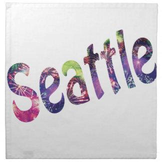 Cuarto de Seattle de julio Servilleta Imprimida