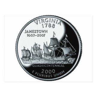 Cuarto de Virginia Tarjeta Postal