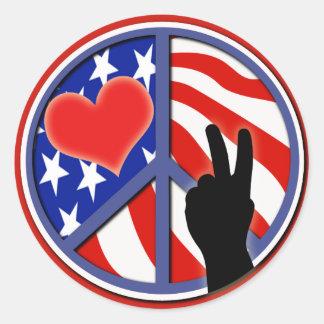 Cuarto del amor los E.E.U.U. de la paz de julio Pegatinas