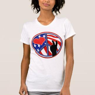 Cuarto del amor los E.E.U.U. de la paz de julio Camiseta