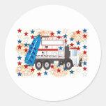 Cuarto del camión de basura de julio pegatinas