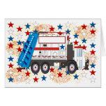 Cuarto del camión de basura de julio felicitaciones