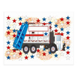 Cuarto del camión de basura de julio tarjetas postales