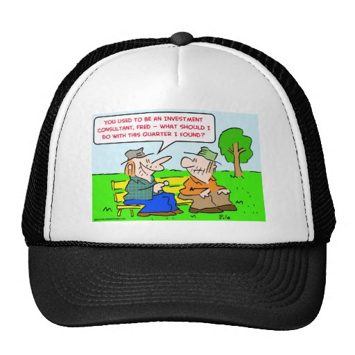 cuarto del consultor de inversión gorras de camionero