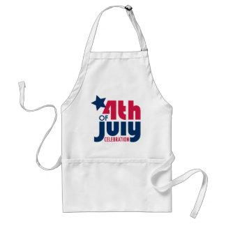 Cuarto del delantal de la celebración de julio