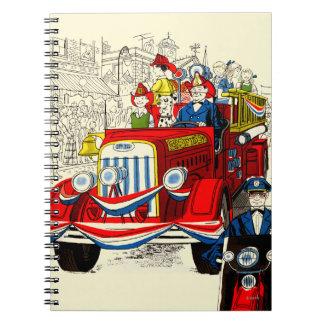 Cuarto del desfile de julio libro de apuntes con espiral