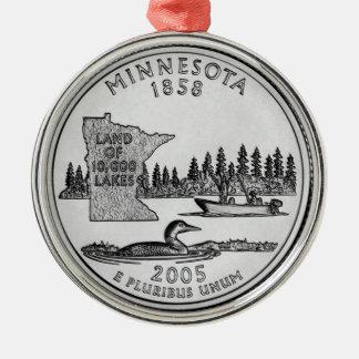 Cuarto del estado de Minnesota Ornamento Para Arbol De Navidad