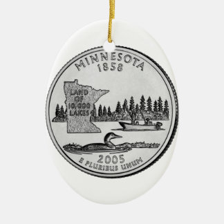 Cuarto del estado de Minnesota Ornamentos De Navidad