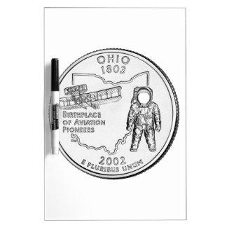 Cuarto del estado de Ohio Pizarras Blancas