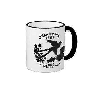Cuarto del estado de Oklahoma Taza De Dos Colores