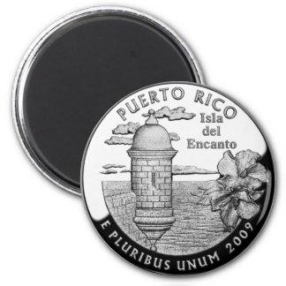 Cuarto del estado de Puerto Rico Imán De Frigorífico