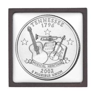 Cuarto del estado de Tennessee Cajas De Recuerdo De Calidad