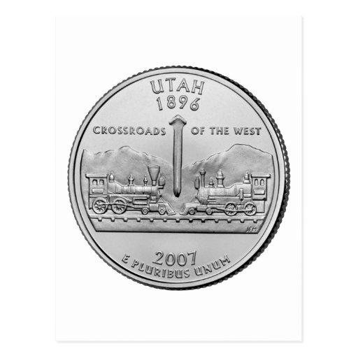 Cuarto del estado de Utah Tarjetas Postales