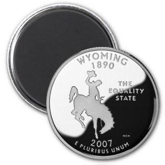 Cuarto del estado de Wyoming Imán De Frigorífico